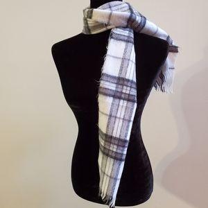 BOGO Sale! Plaid scarf Black and White Rectangular